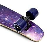 Apollo Fancy Skateboard, Vintage Mini Cruiser, Komplettboard, 22.5inch (57,15 cm), Mini-Board mit Holz Oder Kunstsoff Deck mit und Ohne LED Wheels - 5