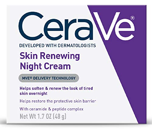 CeraVe Skin Renewing Night Cream | Niacinamide, Peptide Complex, and Hyaluronic Acid Moisturizer for...