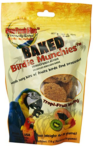 Oven Fresh Bites Birdie Munchies Pet Treat, Tropical Fruit, 4-Ounce