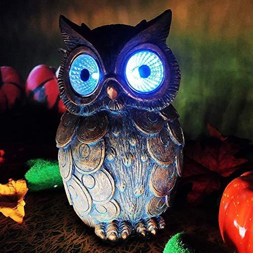 NNGT Garden Light Owl Shape LED Lamp,Outdoor Owl Ornament, Waterproof Owl Outdoor Solar Garden Light Ornaments Christmas LED Solar Owl Light Lawn Landscape Decorations Birthday, Realistic Owl