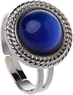 BELTI Magic Stone Mood Ring Regolabile da Donna con Cambio di Temperatura Colore Gioielli ovali