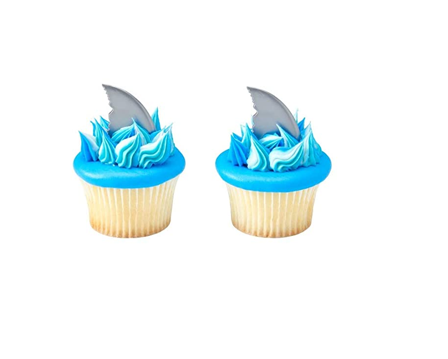 Shark Fin Cupcake Picks - Set of 12