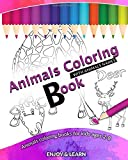 Animals Coloring Book: Coloring Animals names 2-8 ans 8x10 inch 25 Unique Designs Collection