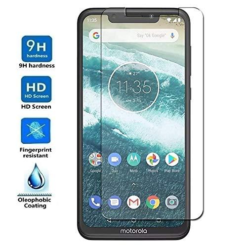REY Protector de Pantalla para Motorola One, Cristal Vidrio Templado Premium