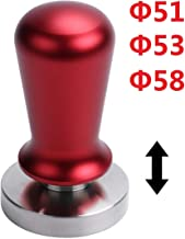 Wingjip 1PC Coffee Tamper Calibrated with Spring Adjustable Grip Ergonomics Handle Powder Press, Barista Family office Cafe Restaurant Coffee Tool 51mm Red
