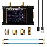 HIMAPETTR 50KHz-3GHz Analizador de Red Vectorial, 3.2 Pulgadas, Analizador De Antena, HF VHF UHF Analizador de Espectro 2000mAh Pantalla táctil LCD Digital, para la medición de parámetros