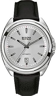 Bulova - Reloj Analogico para Hombre de Automático con Correa en Leather 63B184