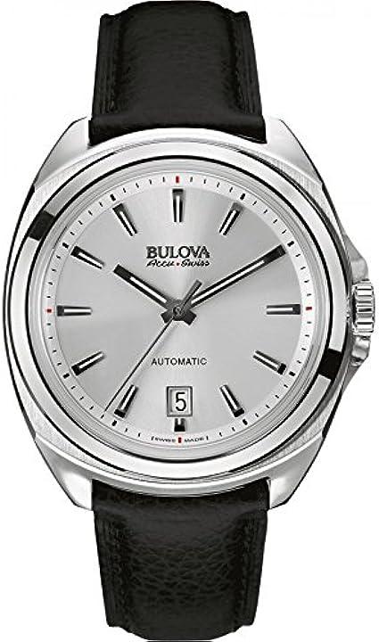 Bulova Reloj Analogico para Hombre de Automático con Correa en Leather 63B184