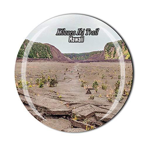 Imán de nevera 3D Kilauea Iki Trail Hawaii USA recuerdo de cristal de recuerdo de viaje colección de regalo para decoración del hogar y la cocina