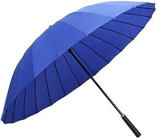 YQRYP Umbrella Long Handle Umbrella Super Windproof Rain Dual-use Umbrella Male Business Straight Handle Umbrella Female Double Straight Umbrella Windproof Umbrella, Golf Umbrella (Color : Blue)