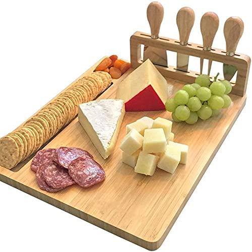 Tabla de cortar Tablero de queso de bambú CUCHILLO CUCHILLO CUCHILLO QUE QUESO TORRIZA TORRIZADO CUADRO COCINA COCINA HERRAMIENTAS DE COCINA DE COCINA DE COCINA DE COCINA DE BAMBUO TABLA DE CORTE DE B