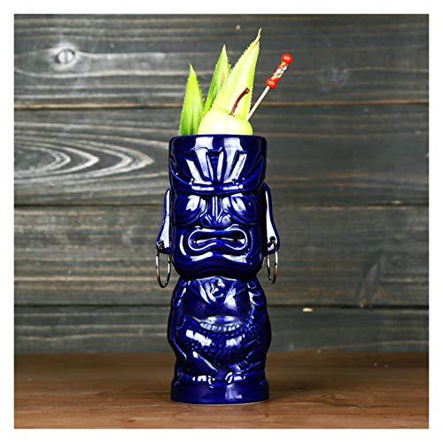 Vasos Cóctel Copa de personalidad creativa Cerámica de cóctel de vidrio Tótem Taza Copa de cóctel Totem (Capacity : 450ml, Color : Brown)