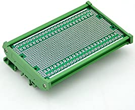 Electronics-Salon DIN Rail Mounting Carrier Housing with Prototype Board. PCB Size 137.4 x 72mm