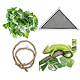 Reptile Hammock With Sticks For Artificial...