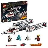 LEGO Star Wars TM - Caza Estelar Ala-Y de la Resistencia, Juguete de Construcción de Nave Espacial de la Guerra de las...