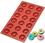 Ozera Silicone Mini Donut Pan, 18 Cavity Doughnut Baking Mold Tray -...