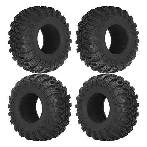 SALUTUYA Neumático de Coche Remoto RC excelente Durabilidad 4 Piezas / 2,2 Pulgadas / 128mm neumático de Goma para HSP/Redcat/Traxxas/Tamiya con Material de Goma