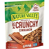 GRANOLA: Nature Valley crunchy granola is made with whole grain oats and cinnamon flavor REAL INGREDIENTS: Hearty 100% whole grain oats with no artificial flavors, artificial colors, artificial sweeteners, or corn syrup. WHOLE GRAIN: An excellent sou...