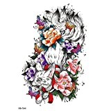tzxdbh 3pcs Flor Brazo Etiqueta Engomada del Tatuaje Impermeable Medio Brazo Flor Blanco y Negro Peonía Etiqueta Engomada del Tatuaje Transfronteriza Amazon Set-HB-734_148 * 210mm