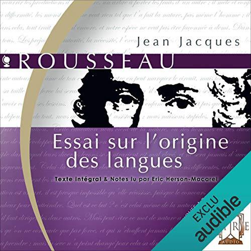Essai sur l'origine des langues audiobook cover art