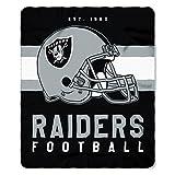 NFL Oakland Raiders Singular Fleece Throw, 50-inch by 60-inch, Black