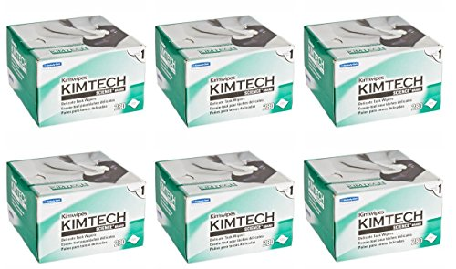 Kimberly-Clark 34155 Kimtech Science Kimwipes Delicate Task Disposable Wiper, 8-25/64' Length x 4-25/64' Width, White (Case of 60 boxes)