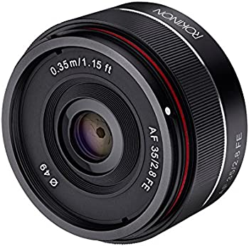 Rokinon 35mm f/2.8 AF Ultra Compact Lens for Sony E Mount