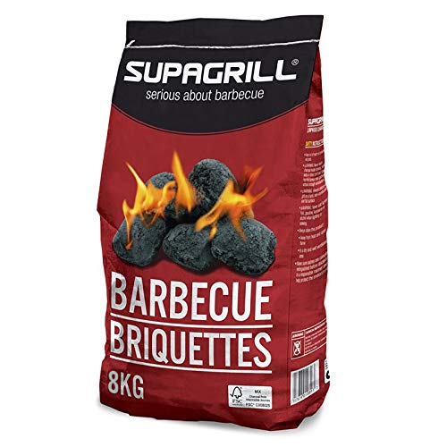 Supagrill CPL 8KG BBQ Briquettes Barbecue Charcoal Coal Fuel Cooking Grill