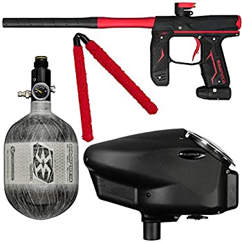 Action Village Empire Axe 2.0 Competition Paintball Gun Package Kit w/Air Tank  Color  Dust Black/Dust Red Tank Size  68/4500