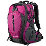 FENGDONG 40L Waterproof Lightweight Outdoor Daypack Hiking,Camping,Travel Backpack for Women Men Pink