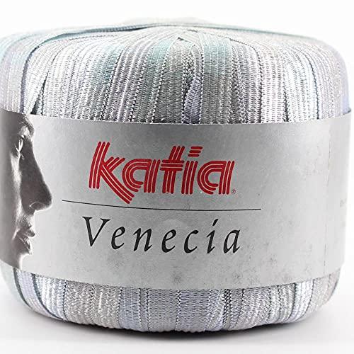 Lanas Katia Venecia Ovillo de Color Plata Cod.3200