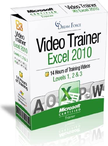 Excel 2010 Training Videos 14 Hours of Excel 2010 training by Microsoft Office Specialist Expert product image