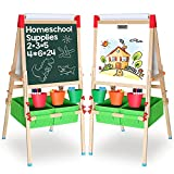 Best Kids Easels - Wooden Easel for Kids, White Board and Chalkboard Review