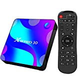 Box TV Android, Android 10.0 2GB 16GB Supports 4K 3D, Smart TV Box RK3318 Quad-Core 64bit Cortex-A53 Wi-FI 2.4G/5G LAN100M USB 3.0 BT 4.0