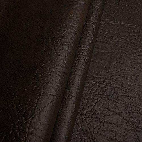 EDGE Exklusives Kunstleder Mammut Meterware Polsterstoff Bezugsstoff Dunkelbraun
