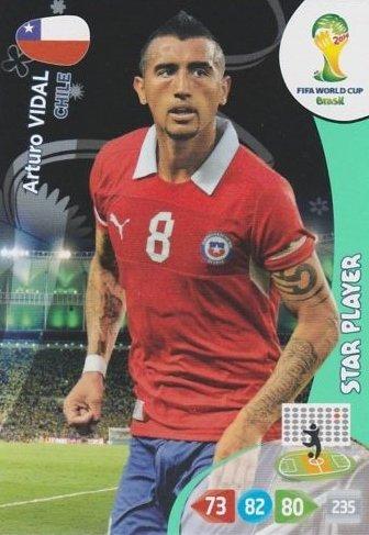 FIFA World Cup 2014 Brazil Adrenalyn XL Arturo Vidal Star Pl