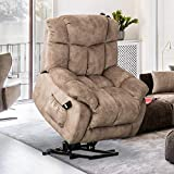 Bonzy Home Power Recliner Chair Overstaffed, Heavy Duty Reclining Chair, Lift Chair Recliners, Camel