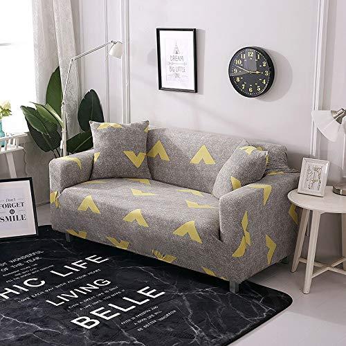 ASCV Housses de canapé élastiques pour Salon Housse de canapé Tout Compris Housse de Protection de Meubles Extensible Housses fauteuils Housses de canapé A7 2 Places