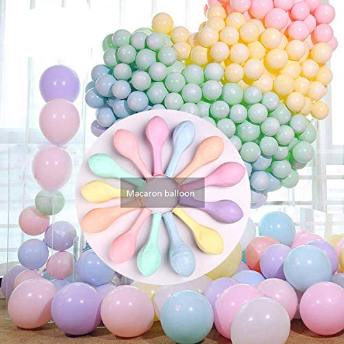 300pcs Balloon Latex Macaron Balloons Wedding Room Decoration Layout Party Rainbow Color Balloons For Kids Birthday Party Baby Shower Toys Christmas Supplies (200pcs 5 inches+100 pcs 10 inches)