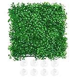 popetpop decorazioni per acquari - prato artificiale con erba sintetica per piante in plastica con 8 ventose decorazioni per acquari