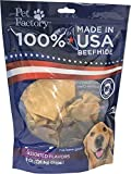 Pet Factory 78149 Beefhide Dog Chews, 99% Digestible Rawhide Treats, 100% Natural Rawhide Chips, Assorted Flavors (Beef & Chicken) 8 oz Resealable Package, Made in USA