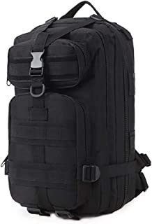 Hiking Backpack Tactical Backpack Lightweight and Durable Waterproof Oxford Fabric Casual Backpack Suitable for Camping, Tourism and Outdoor Sports Backpacks, Unisex (Color : Black)