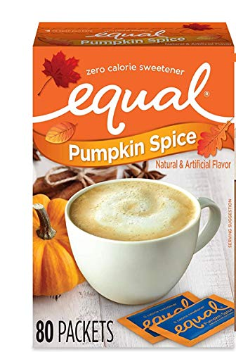 Equal 0 Calorie Sweetener Limited Edition Pumpkin Spice 80 Packets