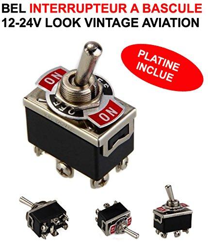 INTERRUPTEUR A BASCULE V Vintage Aviation HCV 4x4Rally Moto Motorhome