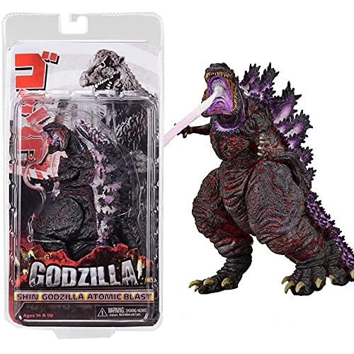 QWEU Godzilla King of The Monsters Vs Kong Movie Shin Atomic Blast Action Figures 18Cm, PVC Collection Modello Giocattoli Bambole Regalo di Compleanno Giocattoli per Bambini