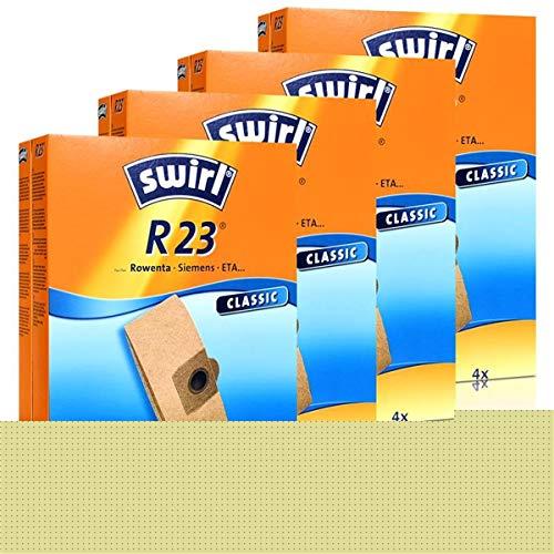 4 x Swirl Papierbeutel R 23 MP Staubsauger Staubbeutel Microvlies