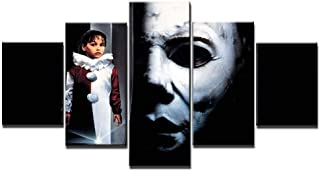 YQSL Cuadro sobre Lienzo Wall Art Canvas Painting 5 Pcs Prints and Posters Home Decor Artwork Halloween Wall Pictures