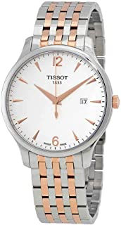 Tissot T063.610.22.037.01 Men's Watch Tradition Silver/Rose Gold 42mm Stainless Steel