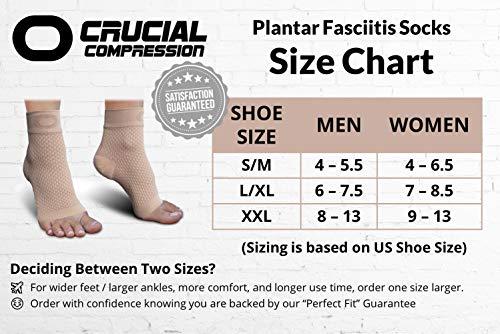 Chaussettes de compression pour fasciite plantaire avec soutien de la voûte plantaire pour homme et...