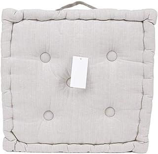 LEYENDAS Cojin para Silla de 40 x 40 x 8 cm para Interior y Exterior de 100% algodón cojín Acolchado/cojín para el Suelo (Beige Crudo, 1)